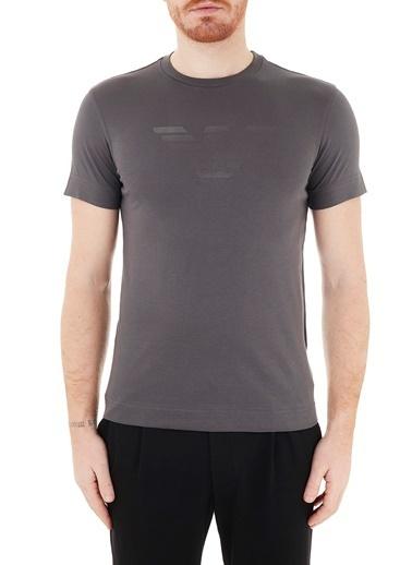 Emporio Armani  Logo Baskılı Bisiklet Yaka % 100 Pamuk T Shirt Erkek T Shırt 3K1Te6 1Jshz 0679 Gri